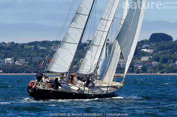 """Pen Duick III"" at Brest Classic Week, Brittany, france, July 2010.  ,  BOATS,CLASSICS,COASTS,EUROPE,EVENTS,FRANCE,PROFILE,SAILING BOATS,TOWNS,WOODEN,YACHTS  ,  Benoit Stichelbaut"