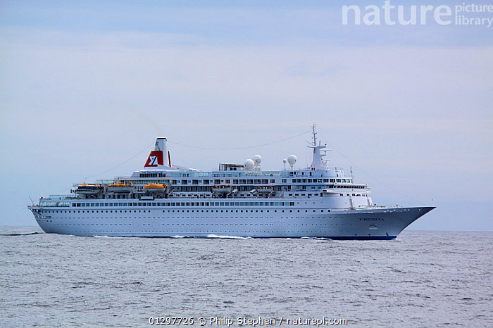"""Passenger liner """"Boudicca"""" on the North Sea, July 2010.  ,  BOATS,CRUISE LINERS ,EUROPE,NORTH SEA,PROFILE  ,  Philip Stephen"""