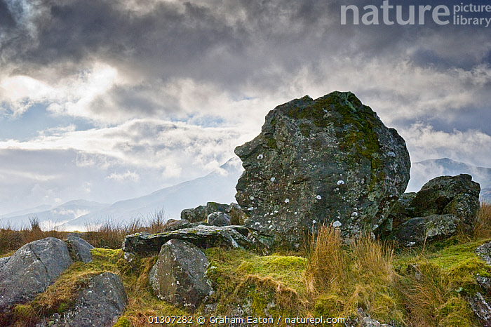 William Pitt Rock, Beddgelert, Snowdonia National Park, Gwynedd, Wales, UK, February 2010.  ,  ATMOSPHERIC,COLUDS,EUROPE,LANDSCAPES,NP,ROCKS,SKY,UK,WALES,National Park,United Kingdom  ,  Graham Eaton