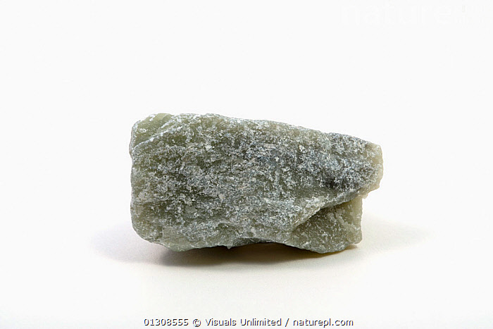 Talc, COLOR,GEOLOGY,HAND,INDUSTRIAL,METAMORPHIC,MINERAL,OBJECT,ROCK,SCIENTIFICA,SHOT,SINGLE,SOAPSTONE,STUDIO,TALC,WHITE, Visuals Unlimited