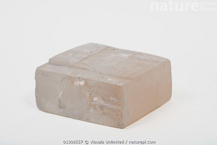 Calcite crystal, CALCITE,COLOR,CRYSTAL,GEOLOGY,MINERAL,OBJECT,RECTANGLE,SHOT,SINGLE,STUDIO,WHITE, Visuals Unlimited