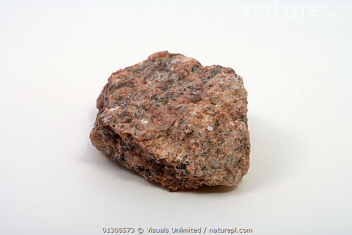 Granite, BROWN,COLOR,GEOLOGY,GRANITE,IGNEOUS,OBJECT,ROCK,SHOT,SINGLE,STUDIO,WHITE, Visuals Unlimited