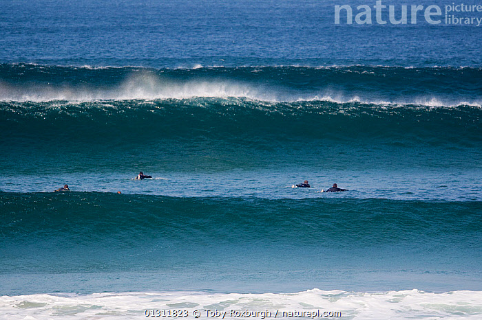 Swell lines at Booby's Bay, Cornwall, England, September 2010.  ,  BREAKING,COASTS,ENGLAND,EUROPE,EXTREME,GROUPS,LEISURE,PEOPLE,SPORTS,SURFING,UK,WATERSPORTS,WAVES,United Kingdom  ,  Toby Roxburgh
