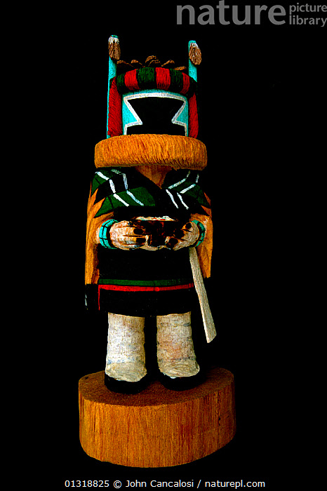 "Hopi Kachina (""Crow Mother"") doll, traditional figure of the Hopi American Indians, Hopi Lands, Northern Arizona, USA  ,  ARTIFACTS,DESERTS,NATIVE AMERICANS,TRADITIONAL,TRIBES,USA,VERTICAL,North America  ,  John Cancalosi"