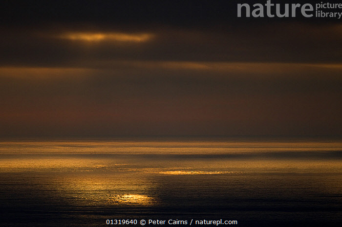 Dramatic light over sea at dusk. Hermaness NNR, Shetland, Scotland, June.  ,  ATMOSPHERIC,CLOUDS,EUROPE,OCEAN,RESERVE,SCOTLAND,SKY,UK,WATER,WEATHER,United Kingdom,core collection xtwox  ,  Peter Cairns