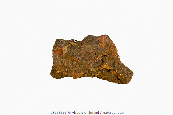 Cassiterite, Cornwall, England  ,  BROWN,CASSITERITE,CHEMISTRY,ELEMENT,GEOLOGY,MINERAL,MINERALS,OBJECT,ORANGE,ORE,ROCKS,ROUGH,SHOT,SINGLE,STUDIO,TIN,WHITE,Europe  ,  Visuals Unlimited
