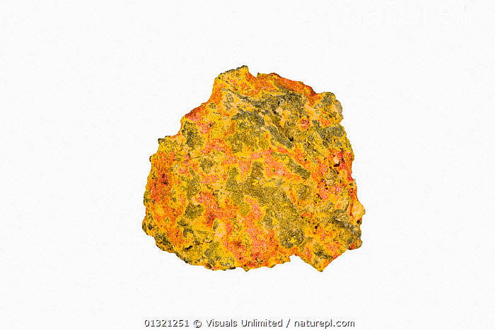 Realgar and Orpiment  ,  ARSENIC,COLORED,GEOLOGY,MINERAL,MINERALS,MULTI,NATURAL,NEON,OBJECT,ORE,ORPIMENT,PATTERN,REALGAR,ROCKS,SHOT,SINGLE,STUDIO,VIVID,WHITE  ,  Visuals Unlimited