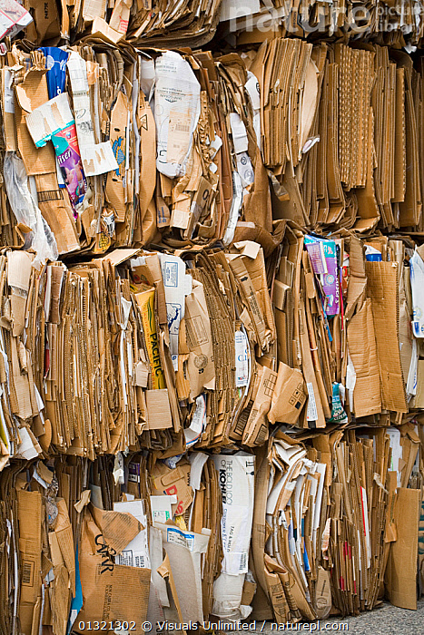 Cardboard recycling  ,  BROWN,CARDBOAD,ENVIRONMENTAL,FLATTEN,LANDSCAPES,LARGE,OBJECTS,OUTDOORS,PACKED,RECYCLE,RECYLING,REFUSE,REUSE,ROWS,RUBBISH,STACKS  ,  Visuals Unlimited
