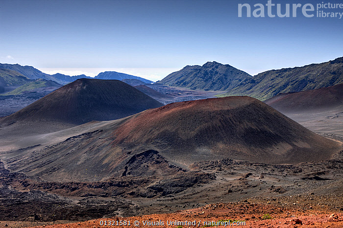 Crater of Haleakala Volcano, Maui, Hawaii, USA, February 2009  ,  CINDER,CONE,CRATER,GEOLOGY,HALEAKALA,HAWAII,LANDSCAPE,LANDSCAPES,LAVA,MAUI,OUTDOORS,SHIELD,USA,VOLCANO,North America  ,  Visuals Unlimited