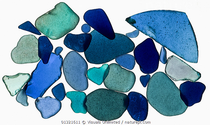 Sea Glass from Bolinas, California.  ,  BEACH,BLUE,CALIFORNIA,CUTOUT,GLASS,GREEN,LARGE,OBJECTS,SEA,SHAPES,SHOT,SMOOTH,STUDIO,TRANSPARENT,WHITE,,Beauty in nature,,,beauty in nature,  ,  Visuals Unlimited