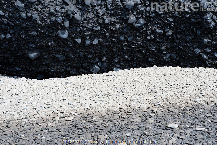 Stones covered with volcanic ash at Dyrholaey, after the eruption of the Eyjafjallajokull volcano, Iceland, April 2010  ,  COASTS,EUROPE,ICELAND,ROCKS,VOLCANOES,Geology  ,  Orsolya Haarberg