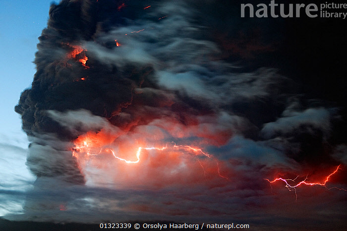 Lightning effects  in the ash plume from the Eyjafjallajokull volcano eruption, Iceland, May 2010  ,  apocalypse,ash plume,black smoke,catalogue3,close up,CLOSE UPS,erupting,eruption,EUROPE,Eyjafjallajokull,FIRE,flames,ICE,ICELAND,LANDSCAPES,LIGHTNING,natural disaster,Nobody,outdoors,RED,smoke,subglacial,the end,Volcano,VOLCANOES,WEATHER ,Geology  ,  Orsolya Haarberg