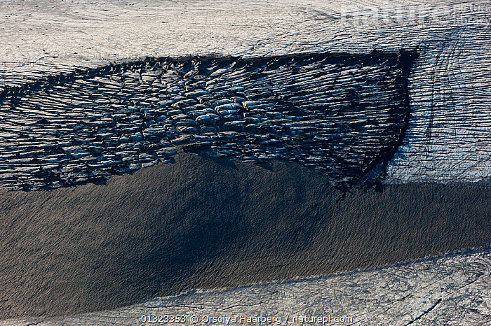 Aerial view of details of glacier ice surface, Myrdalsjokull ice cap, Iceland, August  ,  ABSTRACT,EUROPE,GLACIERS,ICE,ICELAND,Geology  ,  Orsolya Haarberg