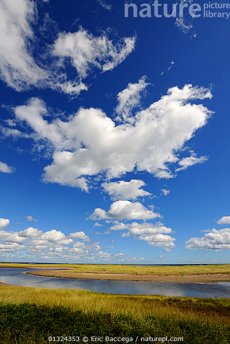The lagoon behind the Barrier Island system at Kellys Beach. Kouchibouguac National Park, New Brunswick, Canada, September 2010  ,  CANADA,CLOUDS,LAGOON,LAKES,LANDSCAPES,MARSHES,NORTH AMERICA,NP,SKY,VERTICAL,WATER,Weather,Wetlands,National Park  ,  Eric Baccega