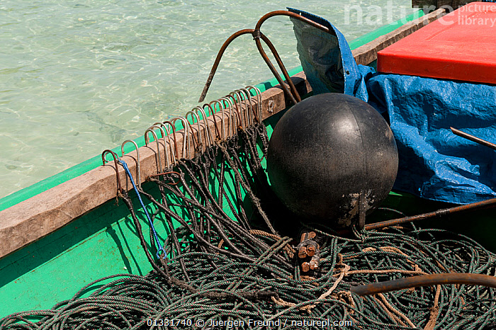 Hooks and lines in a shark finning boat pulled up onto the beach in Daram Island, Indonesia, January 2010  ,  ASIA,BEACHES,BOATS,COASTS,coral triangle,FISHING,OPEN BOATS,SOUTH EAST ASIA,submission,tackle,TROPICAL,WATER,,SOUTH-EAST-ASIA  ,  Jurgen Freund