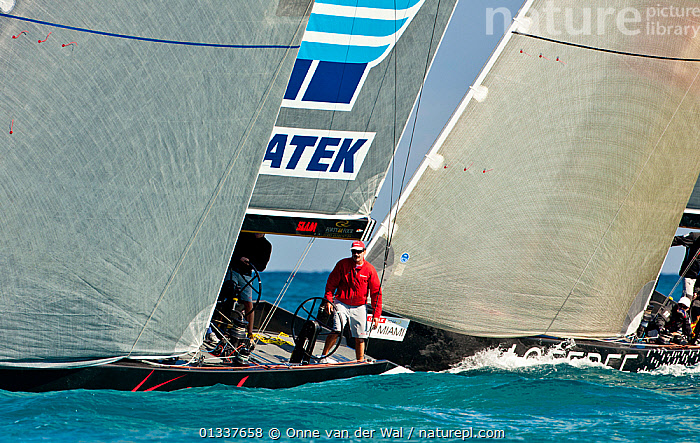 Helming during a race in the RC44 Circuit in Miami. Florida, USA, December 2010. All non-editorial uses must be cleared individually.  ,  BOATS,CREWS,HELMING,HELMSMAN,MAN,MS,NORTH AMERICA,PEOPLE,PROCEDURES,PROFILE,RACES,RACING,SAILING BOATS,USA,YACHTS  ,  Onne van der Wal