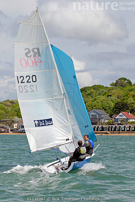 RS400 Gull Grand Prix at Gurnard Sailing Club, 7/8th May. Racing in Thorness Bay close to Gurnard Isle of Wight. Alistair McBriddle and Ian Gibb 1347  ,  Rick Tomlinson