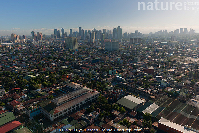 Aerial view of the densely populated city of Manila, Philippines, April 2010, aerial view,AERIALS,BUILDINGS,built up,catalogue4G,CITIES,city,cityscape,coral triangle,elevated view,INDO PACIFIC,LANDSCAPES,manila,Nobody,overcrowding,Philippines,skyscrapers,SOUTH EAST ASIA,URBAN,WWF,SOUTH-EAST-ASIA,Asia, Jurgen Freund