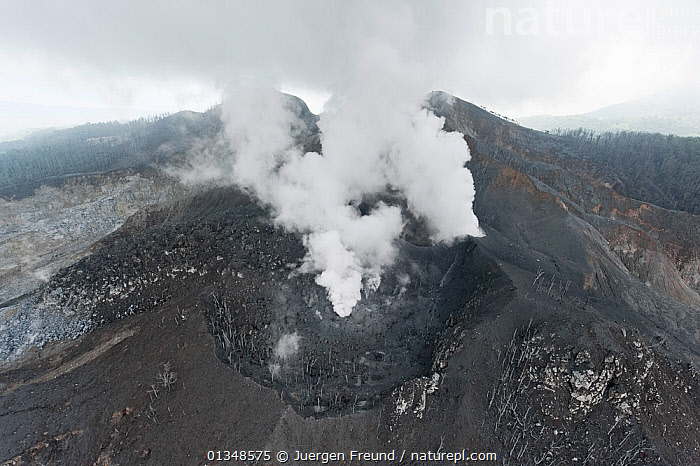 Steaming Langila volcano. West New Britain, Papua New Guinea, October 2008.  ,  ACTIVE,AERIALS,ASIA,CORAL TRIANGLE,GEOLOGY,INDO PACIFIC,LANDSCAPES,MOUNTAINS,SOUTH EAST ASIA,STEAM,VOLCANOES,  ,  Jurgen Freund
