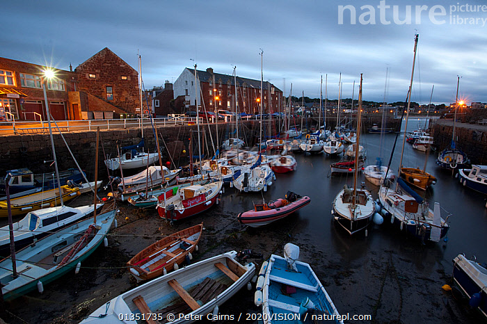 North Berwick harbour at night, East Lothian,  Scotland, UK, July 2010  ,  2020VISION,BASS,BERWICK,BOATS,COASTS,CRUISING,DRY LAND,DUSK,EUROPE,FIRTH OF FORTH,FISHING,HARBOURS,LIGHTS,MIXED BOATS,MOORED,NIGHT,NORTH SEA,OPEN BOATS,PCA_12_180111_45,SAILING BOATS,SCOTLAND,SEAS,SUMMER,TOURISM,TOWNS,UK,WATER,YACHTS,United Kingdom  ,  Peter Cairns / 2020VISION