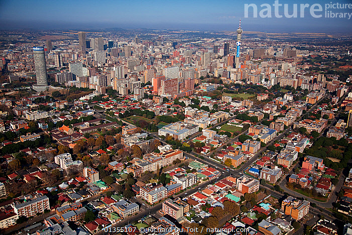 Aerial photo of Johannesburg, South Africa  January 2010  ,  aerial view,AERIALS,AFRICA,BUILDINGS,built up,catalogue4,CITIES,city,cityscape,elevated view,housing,Johannesburg,LANDSCAPES,Nobody,skyscraper,skyscrapers,South africa,SOUTHERN AFRICA,URBAN,view from abobe  ,  Richard Du Toit