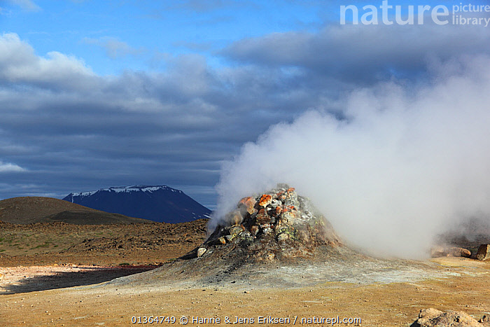 Fumarole in the Krafla volcano area, Iceland, June 2009, catalogue4,EUROPE,fumarole,GEOLOGY,GEOTHERMAL,heat,ICELAND,Krafl volcano,LANDSCAPES,Nobody,Physical Geography,steam,travel destination, Hanne & Jens Eriksen