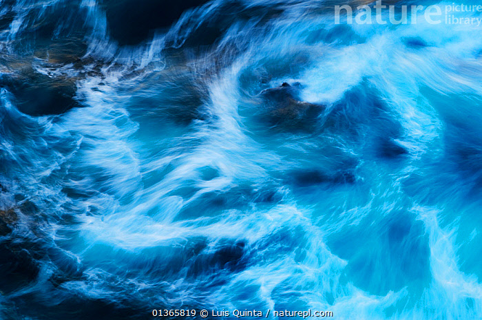 Abstract image of large sea swells hitting the rocks, Portuguese southwestern coast, Portugal, March, 2010.  ,  ABSTRACT,ARTY SHOTS,ATLANTIC,BACKGROUNDS,bad weather,BLUE,Blurred,catalogue4,coastal,crashing,DRAMATIC,EUROPE,foam,full frame,Nobody,PATTERNS,PORTUGAL,rock,rough sea,sea,seascape,swells,textures,WATER,water spray,WAVES,Marine,CONCEPTS  ,  Luis Quinta