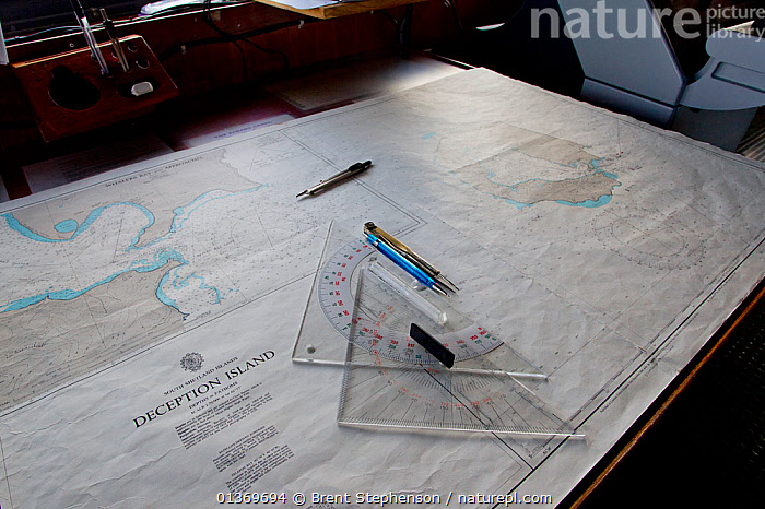 Nautical chart showing map of Deception Island. South Shetland Islands, Antarctica, January.  ,  ANTARCTICA,CARTOGRAPHY,EQUIPMENT,MAPS,NAUTICAL,ORIENTEERING,POLAR,SOUTH ATLANTIC ISLANDS,SOUTH SHETLAND ISLANDS,SUBANTARCTIC ISLANDS,SUB ANTARCTIC ISLANDS  ,  Brent Stephenson