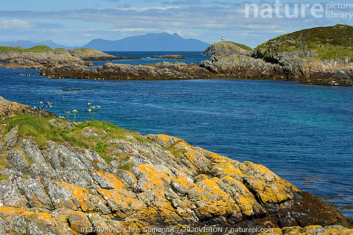 The Cairns of Coll with the Isle of Rum in background, Inner Hebrides, Scotland, UK, July 2011  ,  COASTAL WATERS,EUROPE,2020VISION,ISLANDS,LANDSCAPES,RHUM,SCOTLAND,SEAS,UK,United Kingdom  ,  Chris Gomersall / 2020VISION