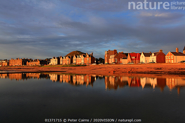 View over coastal town of North Berwick at dawn, Scotland, UK, August  ,  COASTAL WATERS,ECO TOURISM,EUROPE,2020VISION,ECOTOURISM,LANDSCAPES,SCOTLAND,SEAS,UK,United Kingdom  ,  Peter Cairns / 2020VISION