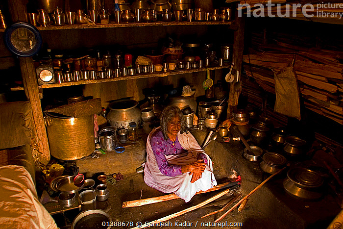 An elderly Toda woman sits inside her hut preparing a meal of raagi on a traditional wood-burning stove. Todas are strict vegetarians and their diet consists largely of plant and milk products. Western Ghats, Southern India. No release available.  ,  ASIA,COOKING,CULTURES,FEMALES,HIGHLANDS,HOMES,HOUSES,INDIA,INDIAN SUBCONTINENT,INDOORS,PEOPLE,SAHYADRI,SOUTHERN INDIA,TRIBAL,TRIBES,TROPICAL,UTENSILS,WOMAN,Catalogue5  ,  Sandesh Kadur