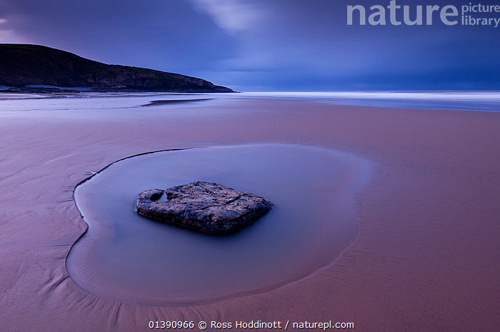 Scenic views of Southerndown, Glamorgan Heritage Coast, near Bridgend, Wales, UK, December 2012.  ,  ATMOSPHERIC,BEACHES,COASTS,EUROPE,GEOLOGY,LANDSCAPES,LOW ANGLE SHOT,PEACEFUL,ROCKS,UK,WALES,WATER,United Kingdom  ,  Ross Hoddinott
