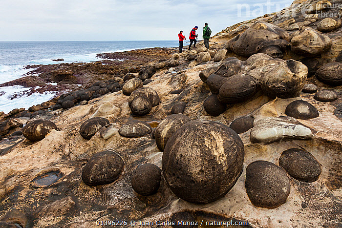 Geological rock formations on Jaizkibel Beach, Gipuzkoa, Basque Country, Spain, May 2012  ,  BEACHES,CLIFFS,COASTS,EUROPE,GEOLOGY,LANDSCAPES,OUTDOORS,PEOPLE,ROCK FORMATIONS,ROCKS,SPAIN,THREE  ,  Juan Carlos Munoz