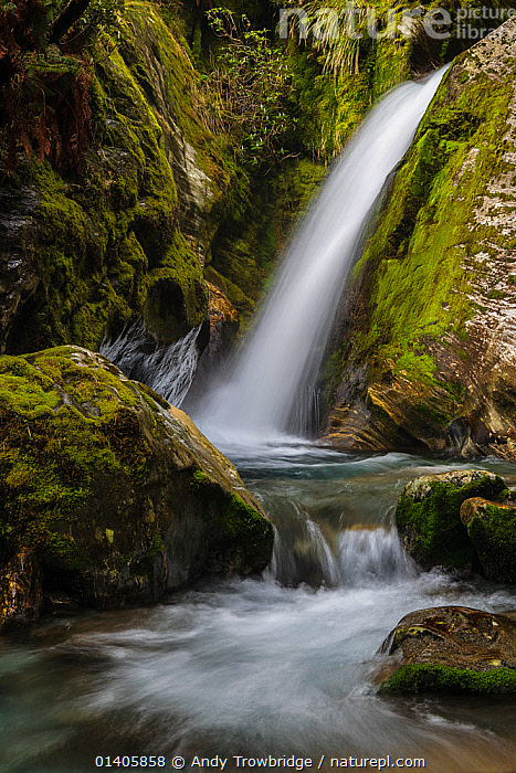 Nature Picture Library One Of Many Waterfalls On The
