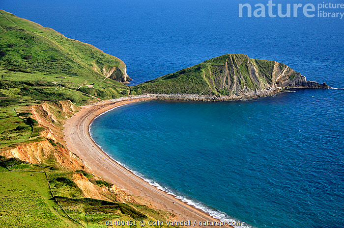 A view of Worbarrow Bay, Dorset, UK. Taken from Flowers Barrow, September 2012, BEACHES,CLIFFS,EUROPE,GEOLOGY,LANDSCAPES,THE SEA,UK,ENGLAND,United Kingdom,,Dorset and East Devon Coast, UNESCO World Heritage Site,, Colin Varndell