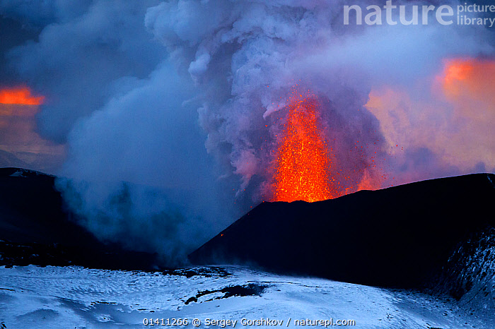 Lava and ash erupting from Plosky Tolbachik Volcano, Kamchatka Peninsula, Russia, 15 December 2012, ASH PLUME,ERUPTING,ERUPTION,ERUPTIONS,EUROPE,FIRE,GEOLOGY,LANDSCAPES,LAVA,MOUNTAINS,RUSSIA,VOLCANOES, Sergey Gorshkov