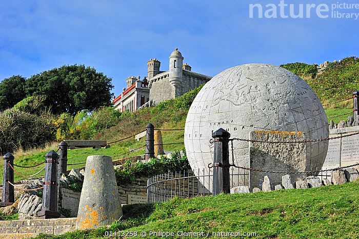 The Great Globe, made of Portland stone, near Durston Castle on the Isle of Purbeck along the Jurassic Coast in Dorset, UK, November 2012, ART,ATTRACTION,BALLS,CARVING,ENGLAND,EUROPE,LANDMARK,ROCKS,SCULPTURE,STONE,TOURISM,UK,UNESCO,WORLD HERITAGE,United Kingdom, Philippe Clement