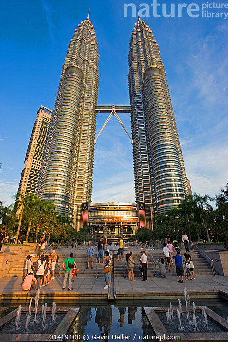 Nature Picture Library - Petronas Towers - 88 storey steel