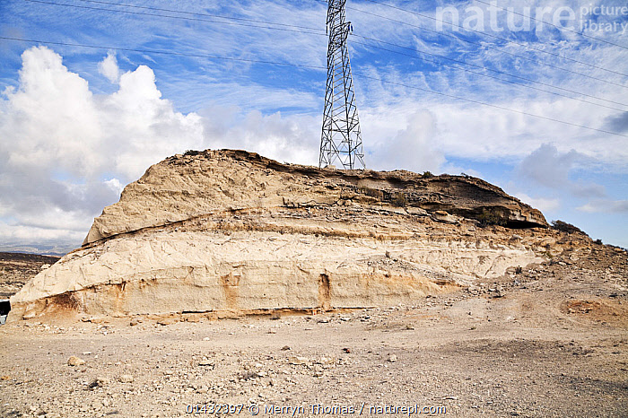 Ignimbrite formation formed from a pyroclastic flow deposit, Tajao Quarry, Tenerife, Canary Islands, Spain, March.  ,  ATLANTIC ISLANDS,EUROPE,PYLONS,ROCK FORMATIONS,SPAIN,ARID,CANARY ISLANDS,GEOLOGY,LANDSCAPES,PYLON  ,  Merryn Thomas
