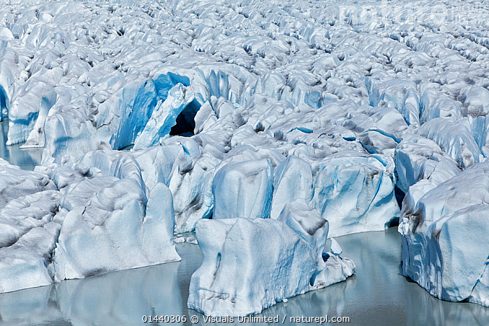 Aerial view of Kinik Glacier, Alaska, USA  ,  AERIALS,COASTS,crevasses,GEOLOGY,GLACIAL FEATURES,GLACIERS,ICE,LANDSCAPES,NORTH AMERICA,USA  ,  Visuals Unlimited