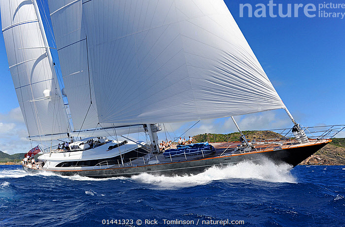 Antigua Superyacht Challenge 2013, 'Panthalassa'. All non-editorial uses must be cleared individually., ANTIGUA,BOATS,CARIBBEAN,RACES,SAILING BOATS,SUPERYACHTS,YACHTS,BLUEGREEN,THE CARIBBEAN,BOAT,BOATS,SAIL,BOAT PARTS,BOAT PART, Rick  Tomlinson
