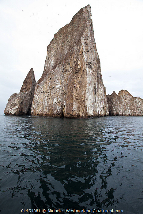 View of Kicker Rock, San Cristobal Island, Galapagos Islands, January 2012.  ,  Famous Place,Famous Places,Sights,Landmark,Famous Landmark,Famous Landmarks,Landmarks,Tourist Attraction,Tourist Attractions,Americas,Latin America,South America,Galapagos,The Galapagos,The Galapagos Islands,Ocean,Oceans,Pacific Ocean,Biodiversity hotspots,Biodiversity hotspot,Tumbes Choc� Magdalena,Tumbes Choco Magdalena,SOUTH-AMERICA  ,  Michele  Westmorland