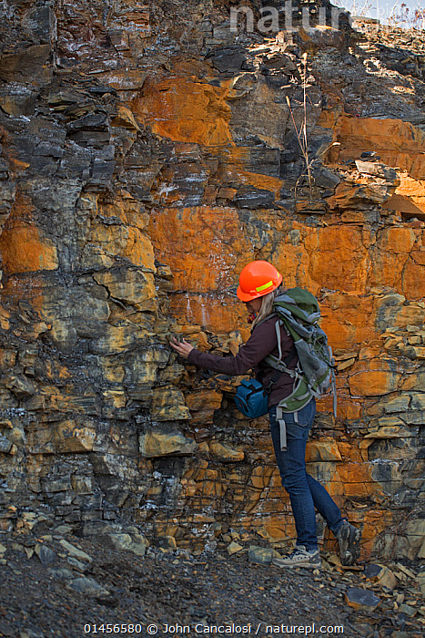 Nature Picture Library - Geologist investigating Marcellus shale