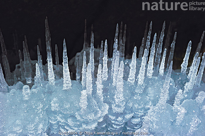 Ice stalagmites / ice spikes formation, Lake Baikal, Siberia, Russia, March.  ,  catalogue6,Contrasts,Magic,Magical,Mystery,Mysterious,Frozen,Group,Large Group,Many,No One,Nobody,Colour Intensity,Dark,Darkness,Spike,Spiked,Spikes,Spikey,Spiky,Transparent,Temperature,Cold,Chill,Chilly,Russia,Siberia,Close Up,Cave,Light,Lights,Ice,Ice Formation,Season,Seasons,Winter,Nature,Natural,Natural World,Beauty In Nature,Freshwater,Lake,Abstract,Abstracts,Lake Baikal,Large Group of Objects,,Beauty in nature,,,beauty in nature,  ,  Olga Kamenskaya