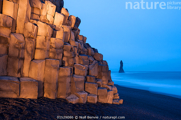 Cliff at Vik beach, light by torchlight, Iceland, March 2015., Mood,Eerie,Nobody,Europe,Northern Europe,North Europe,Nordic Countries,Scandinavia,Iceland,Cliff,Rock,Igneous Rocks,Volcanic Rocks,Twilight,Coast,Coastal,Moods,Cliffs,Cliffsides,Rocks,Coasts,high16, Niall Benvie