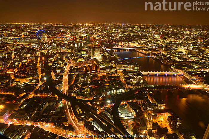 Nature Picture Library - Aerial view of River Thames and