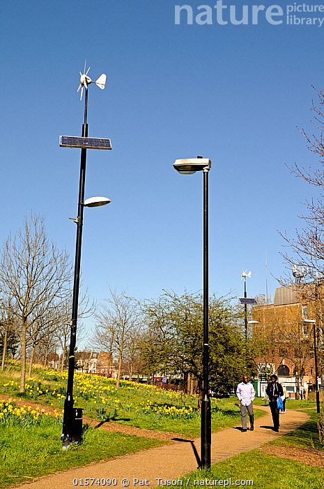 Nature Picture Library Wind And Solar Powered Lamppost Or Lamp