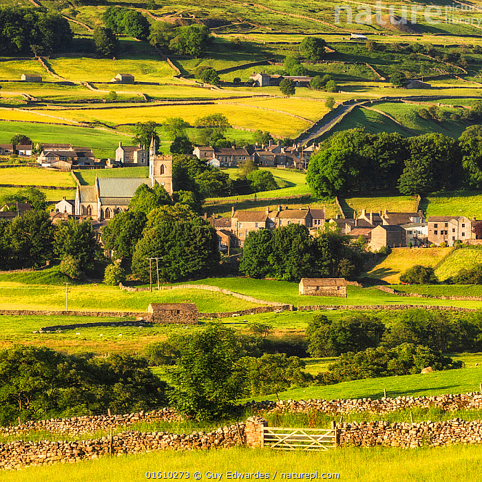 Hawes, Wensleydale, Yorkshire Dales National Park, North Yorkshire, England, UK. June 2017, Church,Dry-stone walls and barns,England,Farmland,Fields,Guy Edwardes,Hawes,Landscape,North Yorkshire,Square,Summer,UK,Village,Wensleydale,Yorkshire Dales National Park,countryside,meadows,,,Colour,Green,Europe,Western Europe,UK,Great Britain,England,Settlement,Village,Building,Church,Churches,Agricultural Land,Cultivated Land,Field,Landscape,Countryside,Reserve,Farmland,Yorkshire,Protected area,National Park,, Guy Edwardes