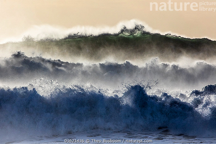 Powerful waves rolling in at the Atlantic coast of Iceland near Dyrholey during a powerful winter storm. February 2016  ,  Astonishing,Pattern,Europe,Northern Europe,North Europe,Nordic Countries,Scandinavia,Iceland,Ocean,Atlantic Ocean,Wave,Coast,Marine,Coastal,Water,Arty shots,Saltwater,  ,  Theo  Bosboom