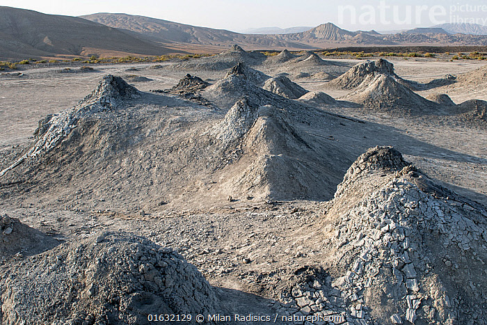 Mud Volcanoes, Azerbaijan  ,  Asia,Central Asia,Azerbaijan,Aerial View,High Angle View,Volcano,Mud,Muddy,Geology,Volcanic features,Interesting,Elevated view,Drone,Drone shot,  ,  Milan Radisics